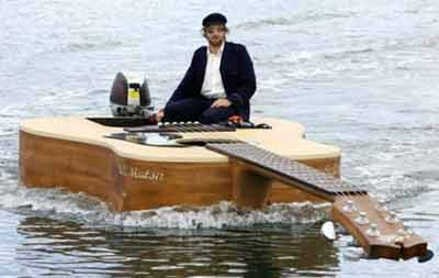 river boat guitar