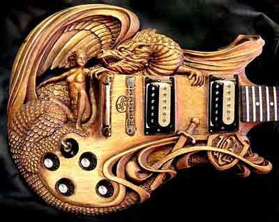 mid evil dragon guitar