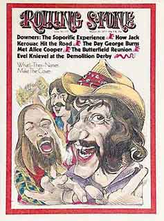 On the cover of the rollingstone, dr hook and the medicine show